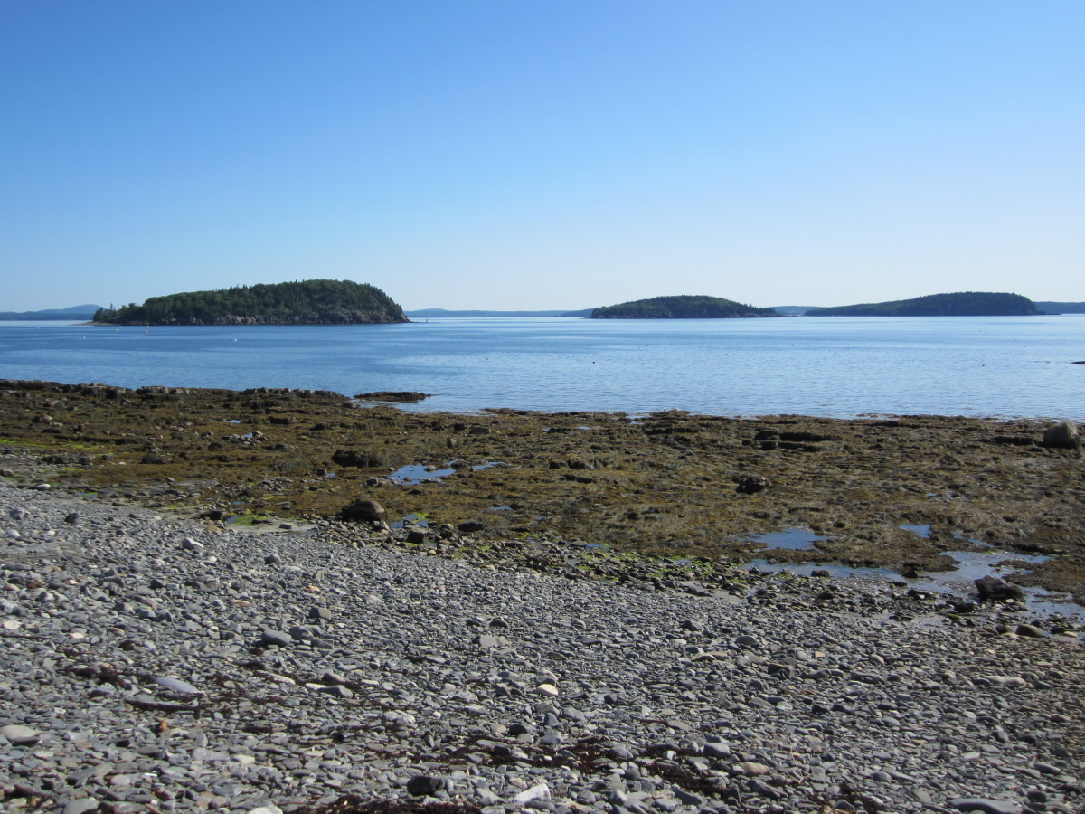 Porcupine islands from Shore Path