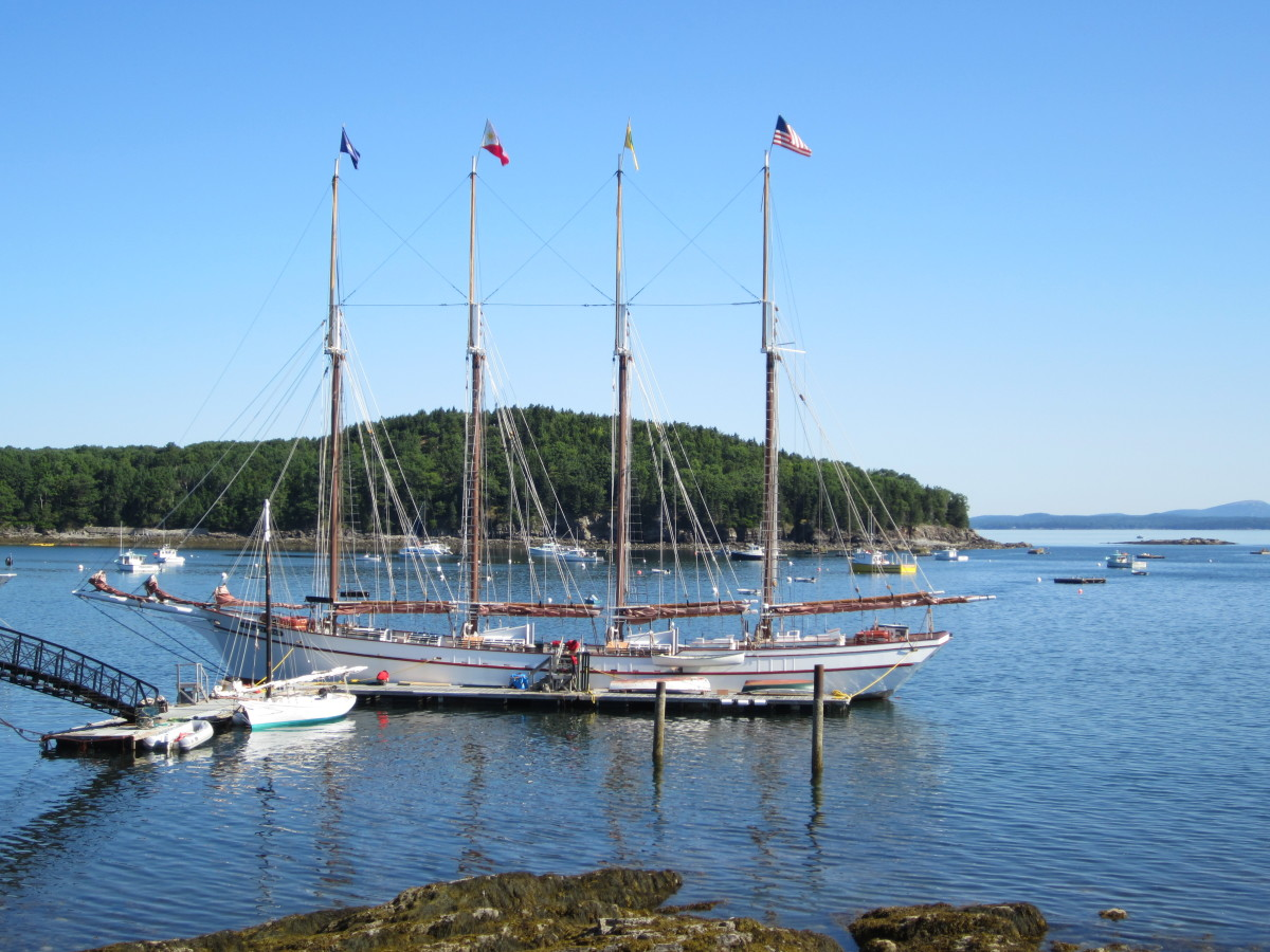 Margaret Todd tall ship at her dock near Shore Path