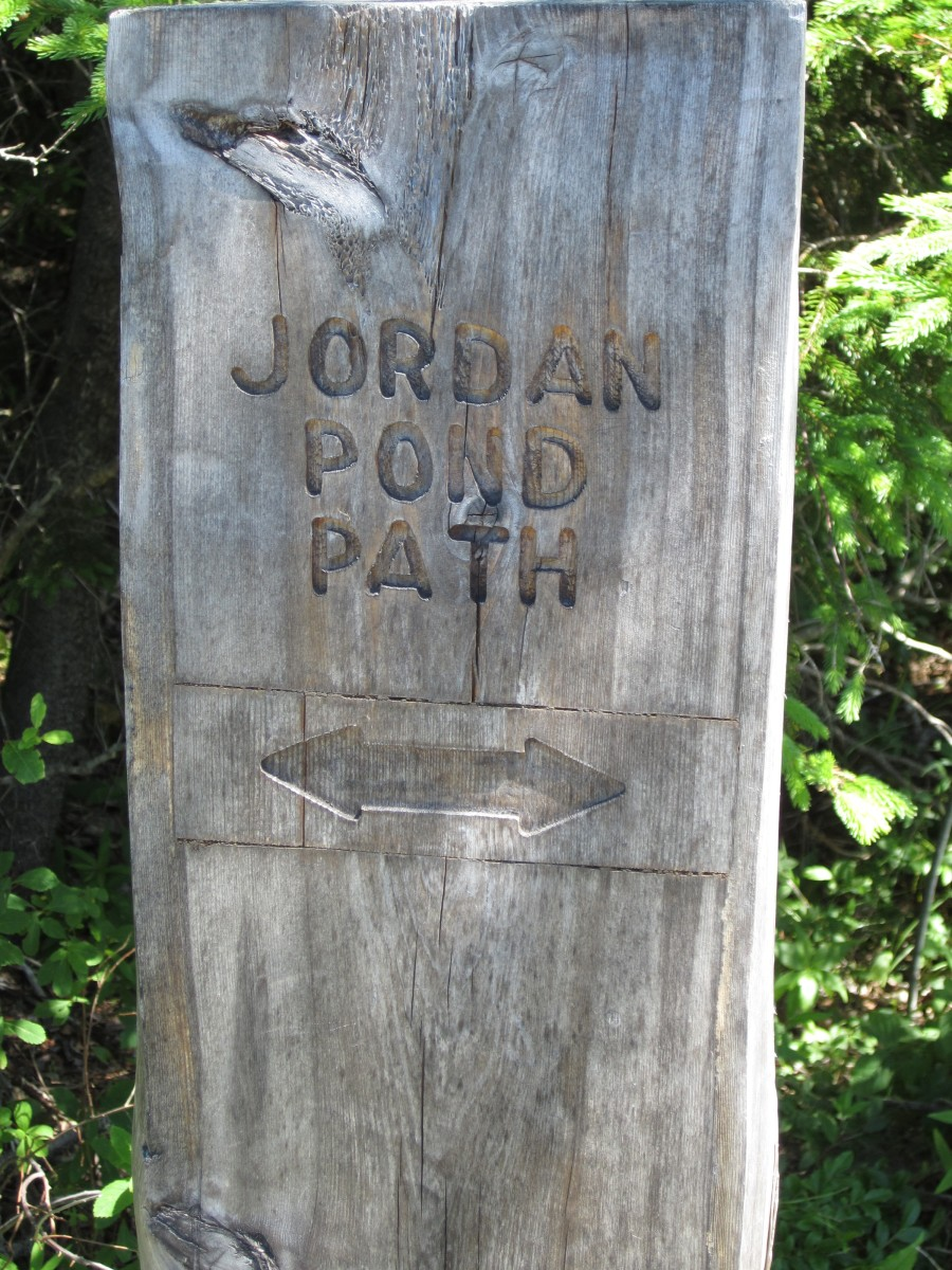 Jordan Pond Path (Shore Trail) sign