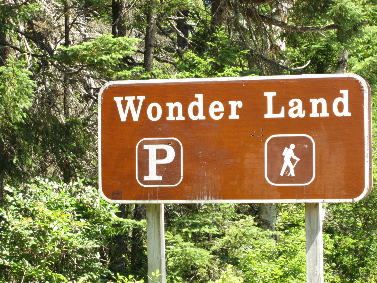 Wonder Land Trail Sign