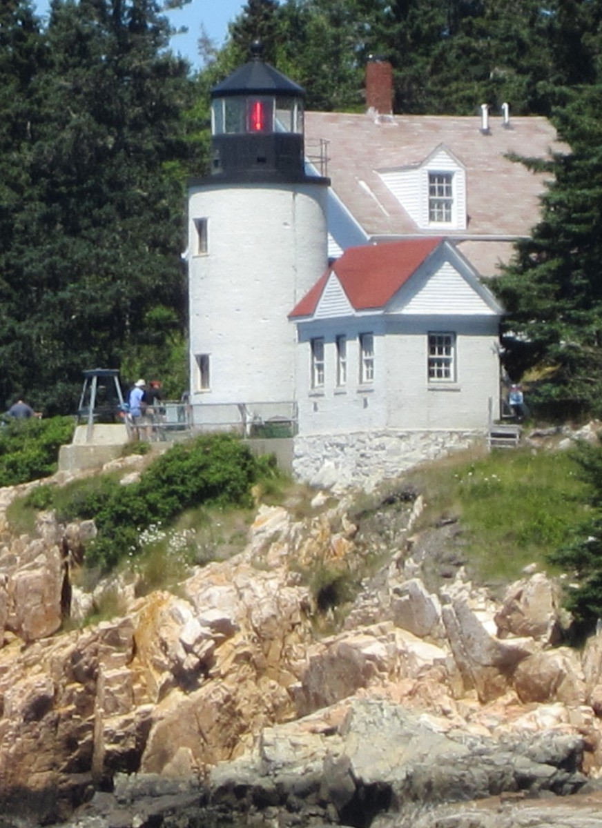 Bass Harbor Head Lighthouse from the water.