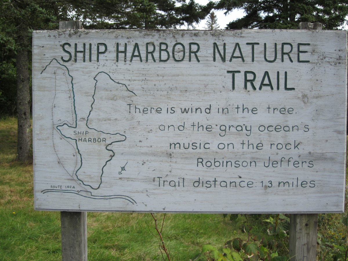 Ship Harbor Nature Trail Sign