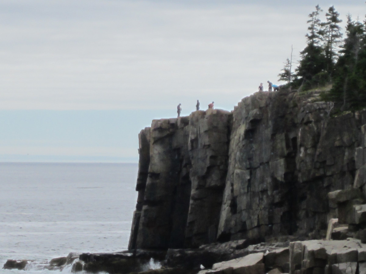 Climbers at the top of Otter Cliffs