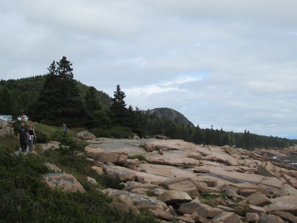 Rocky shore along Ocean Path