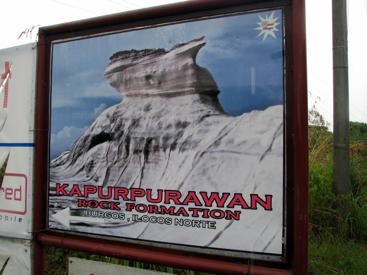 We only saw the signage of the Kapurpurawan Rock Formation :(