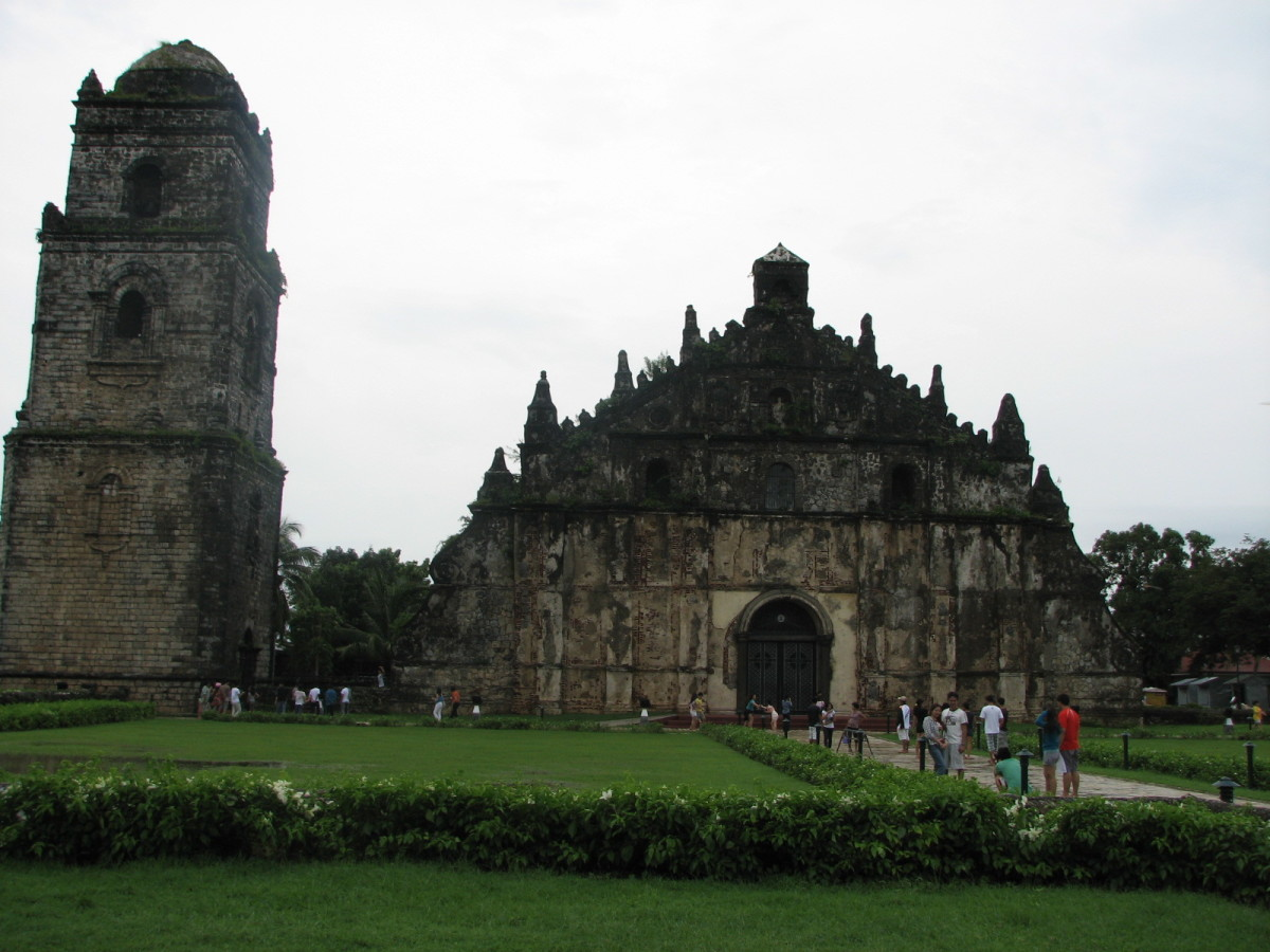 the beautiful St Augustine/ Paoay Church