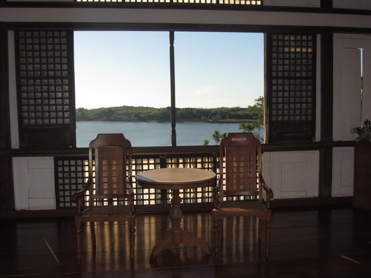 Update as of our third visit to Ilocos 2014: View of the Paoay Lake from the window inside the Malacanang of the North