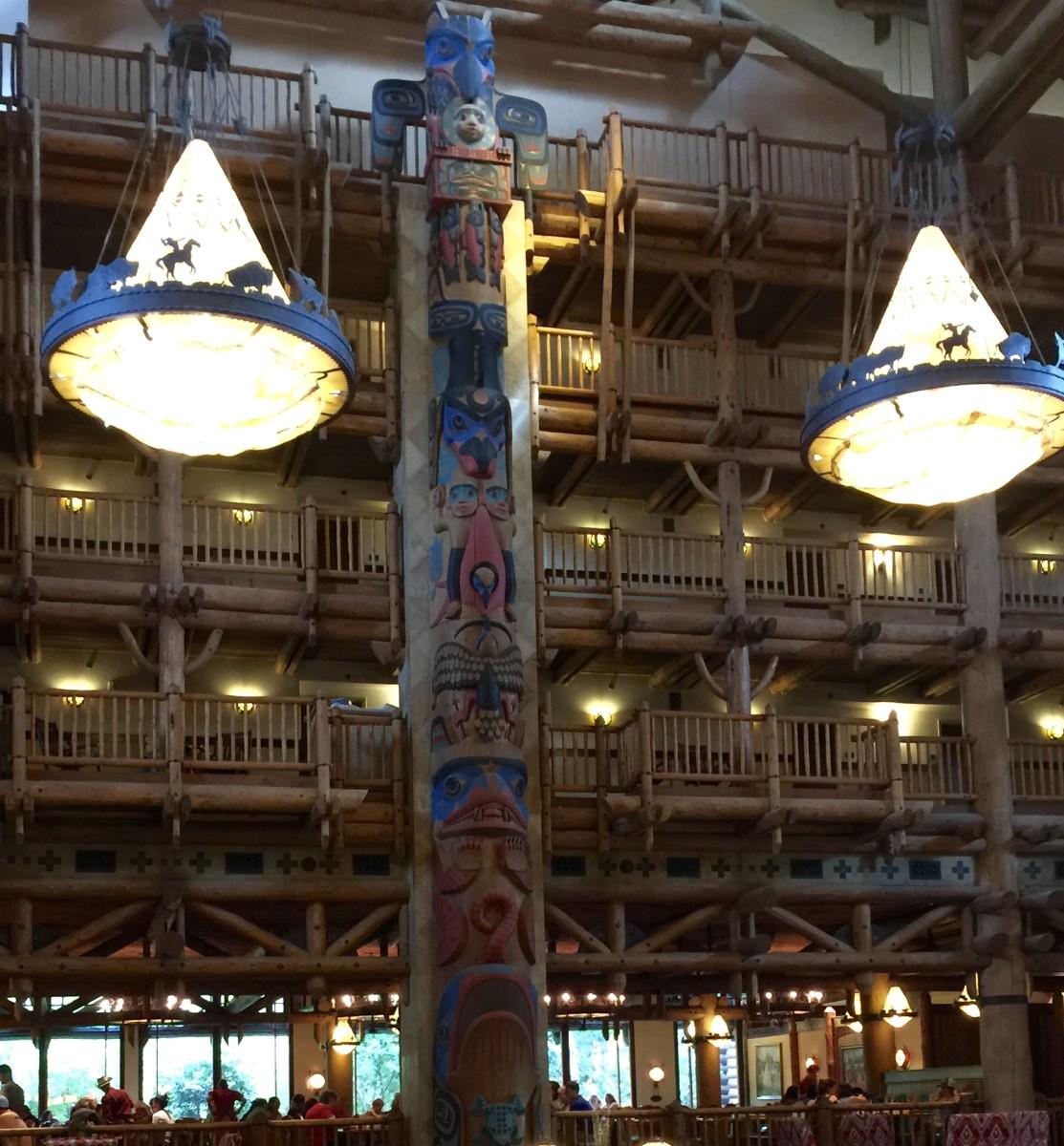 lobby of Wilderness Lodge