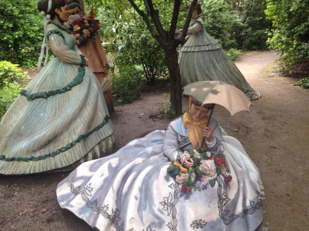 "A piece inspirde by Monet's ""Femme au jaardin"" at Grounds for Sculpture"