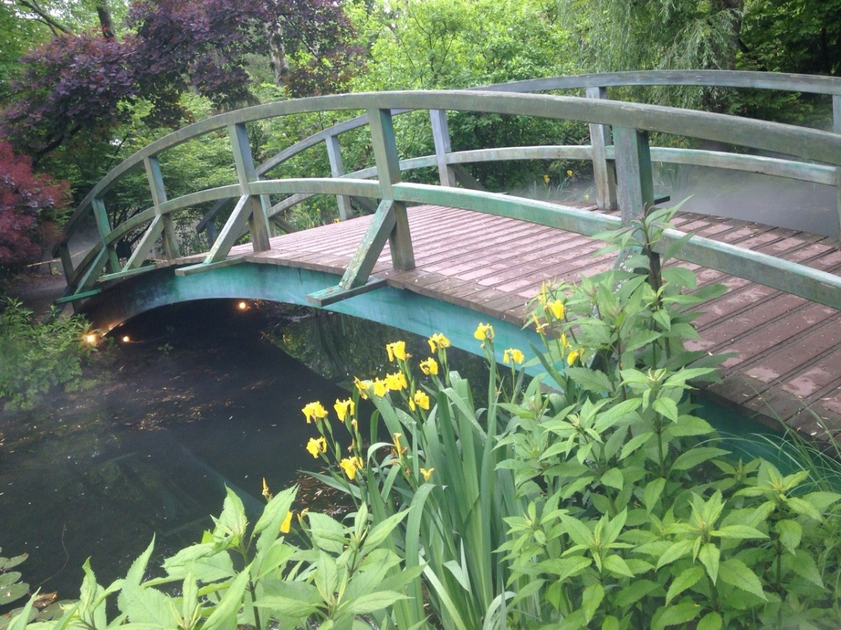 Ground for Sculptures re-creation of the Bridge from Monet's 'Bridge Over A Pond of Water Lillies""