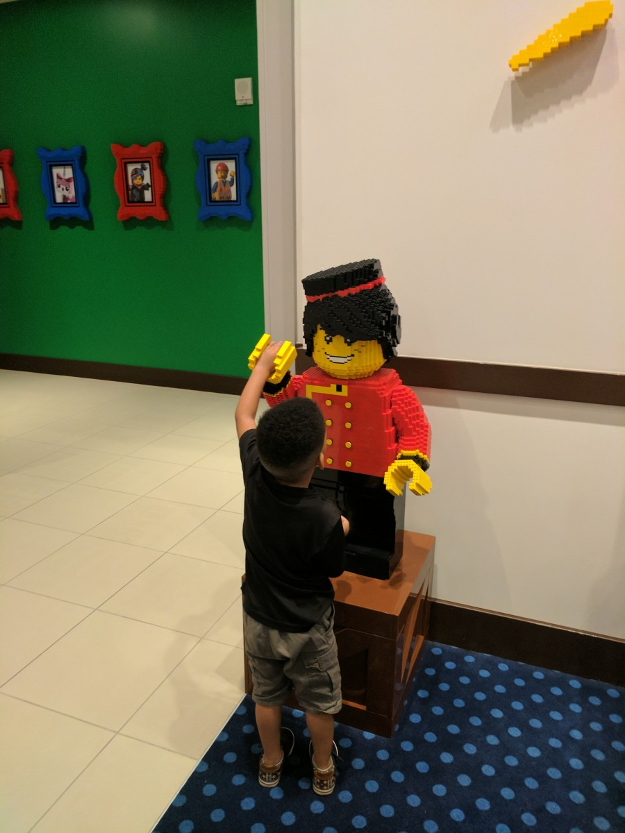 There are so many friendly mini figures located all around the hotel waiting to make friends with your little ones.
