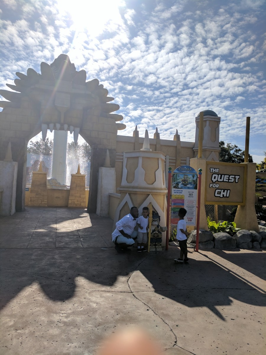 Entrance to our favorite ride at Legoland (my finger was getting jealous due to its lack of photographs).
