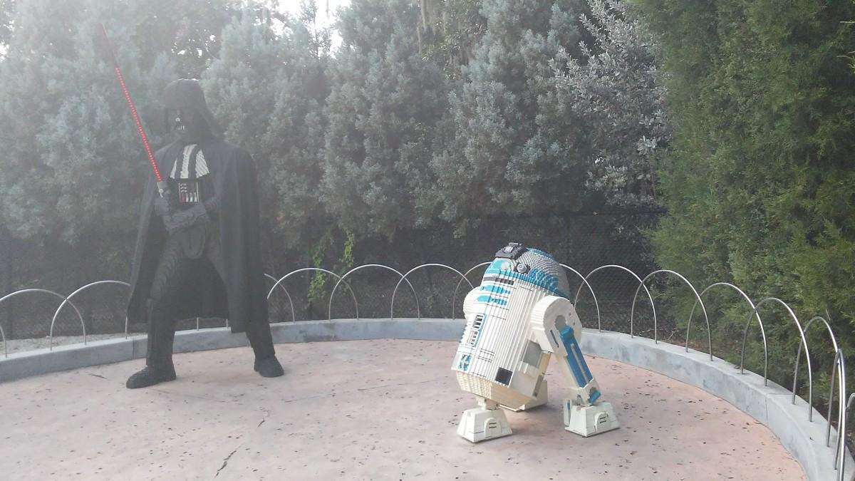 R2D2 and Darth Vader.
