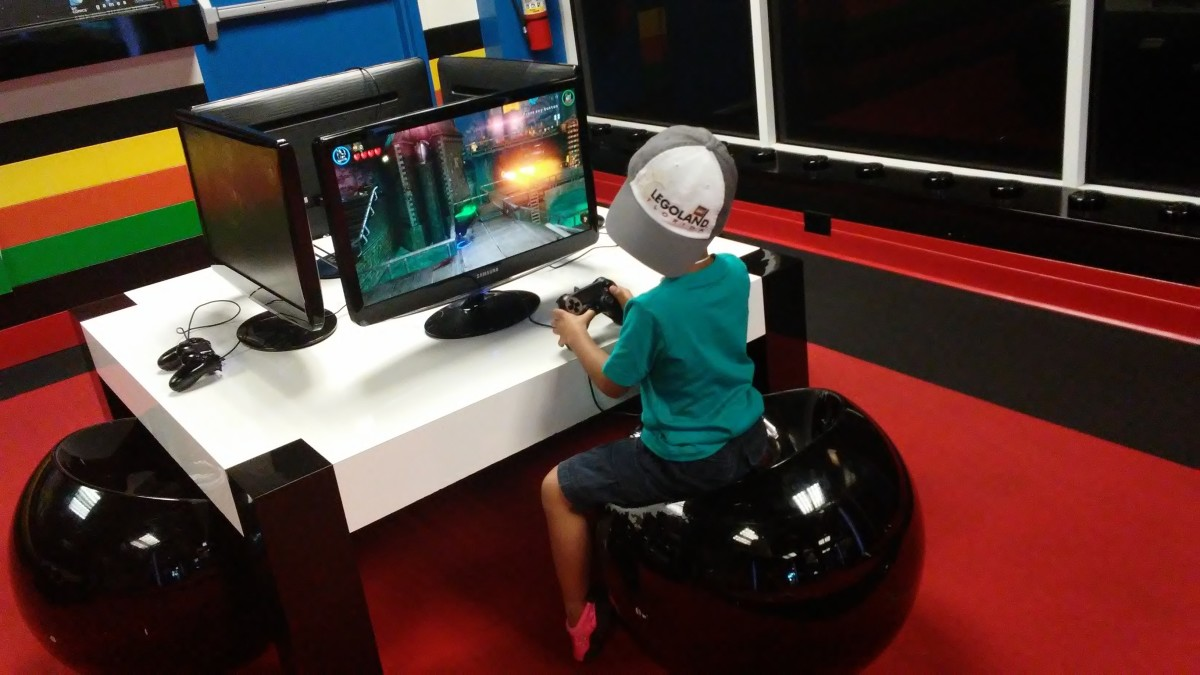 Playing video games in the Imagination Zone.