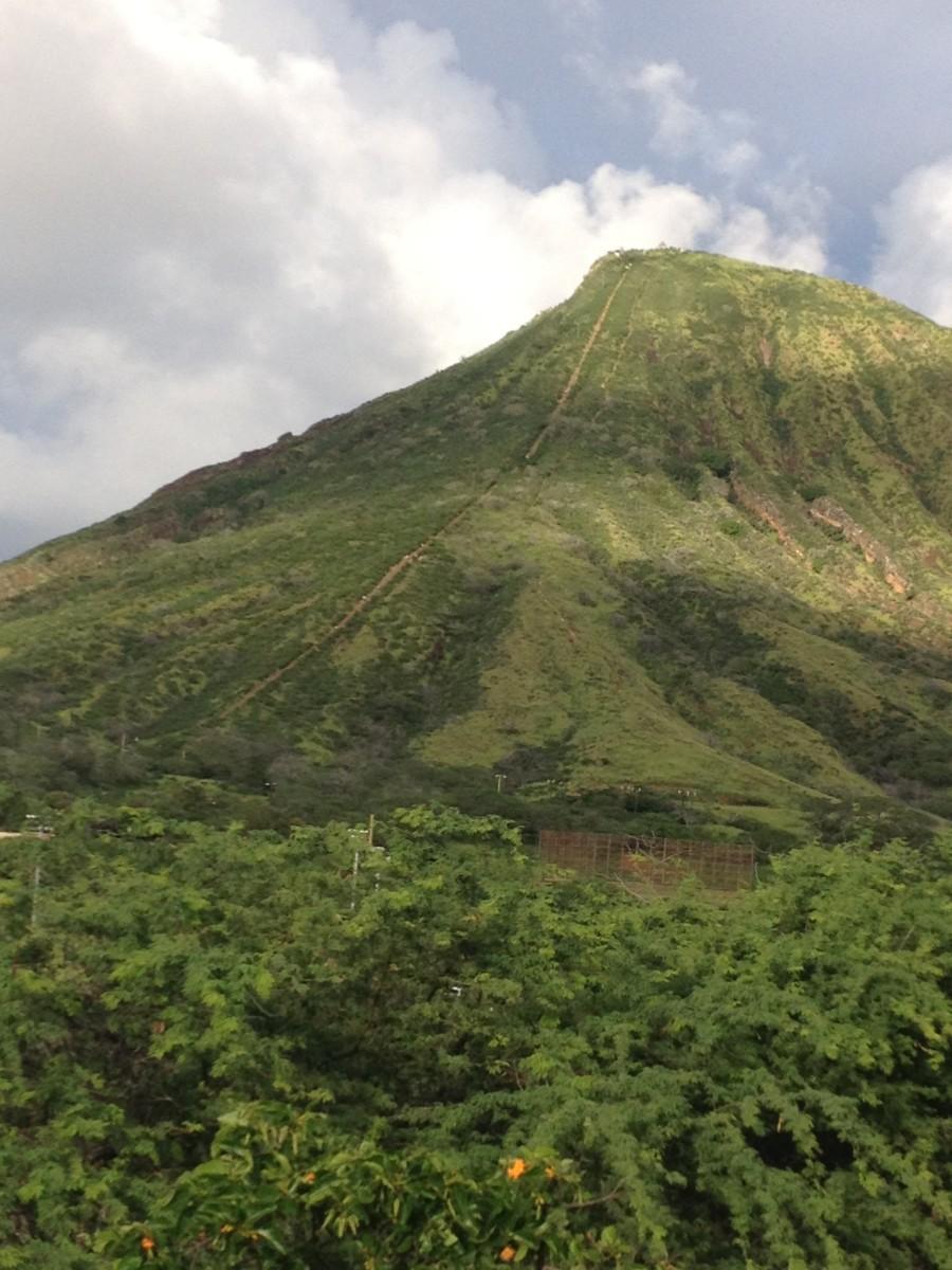 The Koko Head Trail in Hawaii Kai.