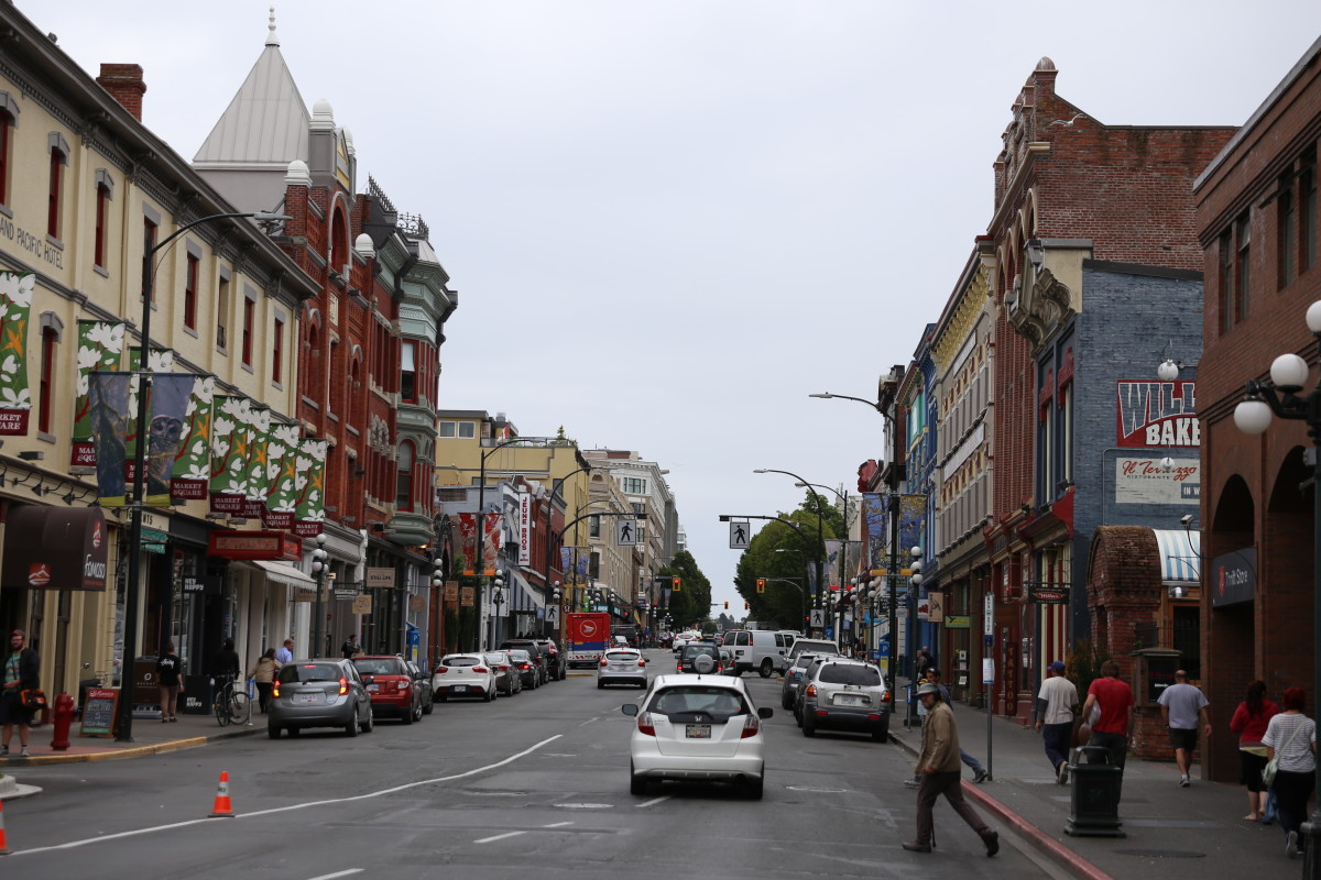 Shopping Downtown Victoria