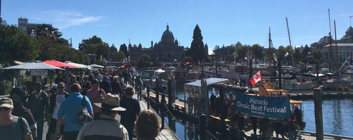 A bustling Inner Harbour