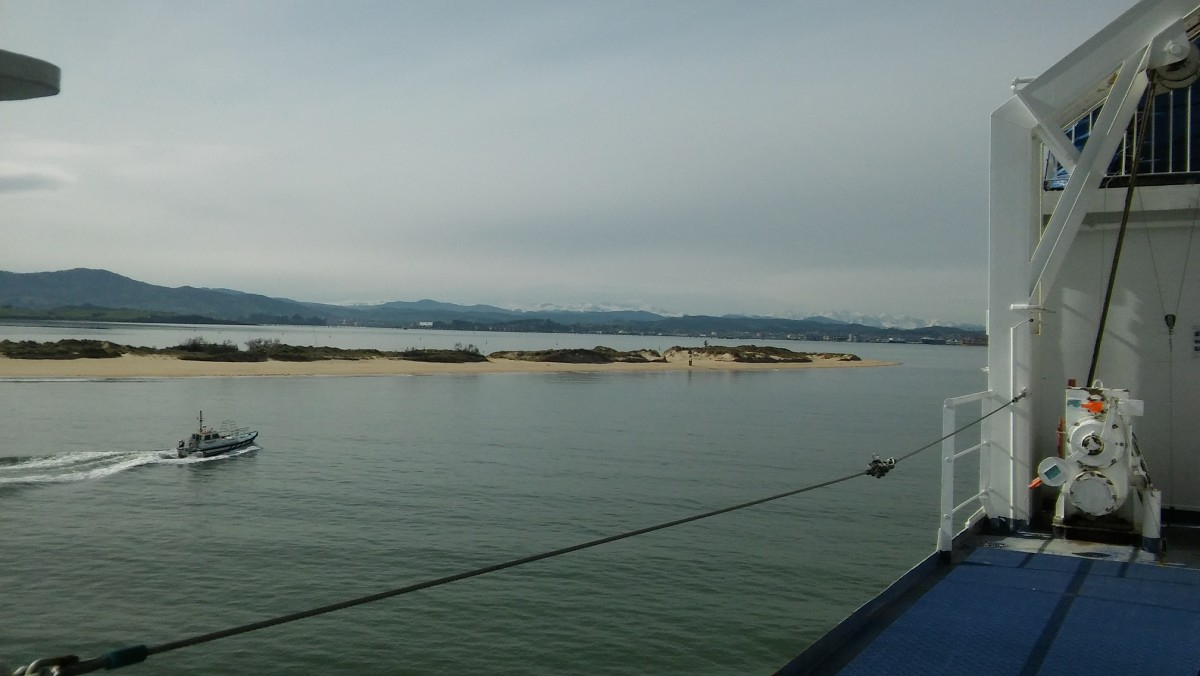 The View From the Deck Entering Santander Harbour.