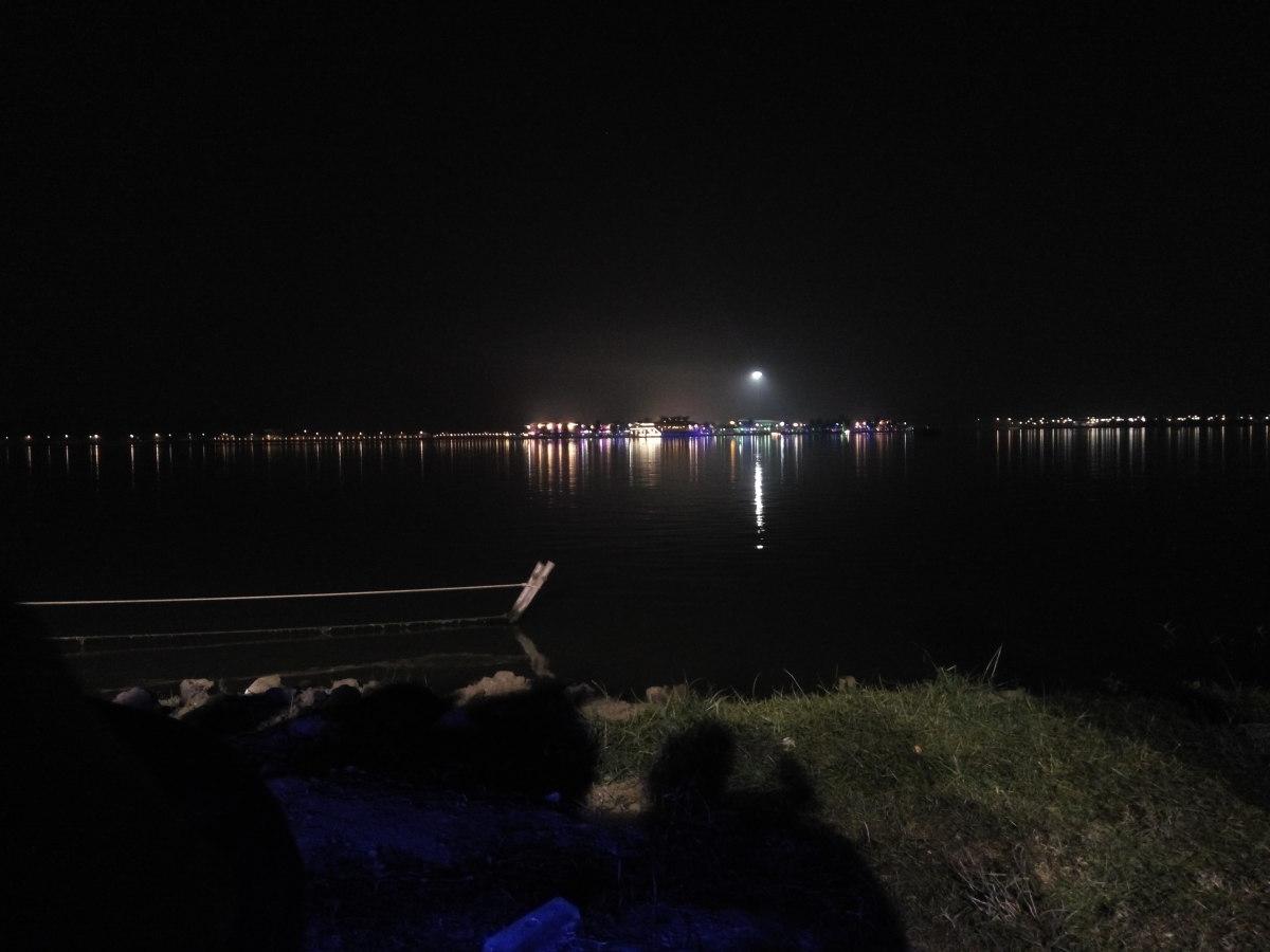 View of the lake at Eco Park