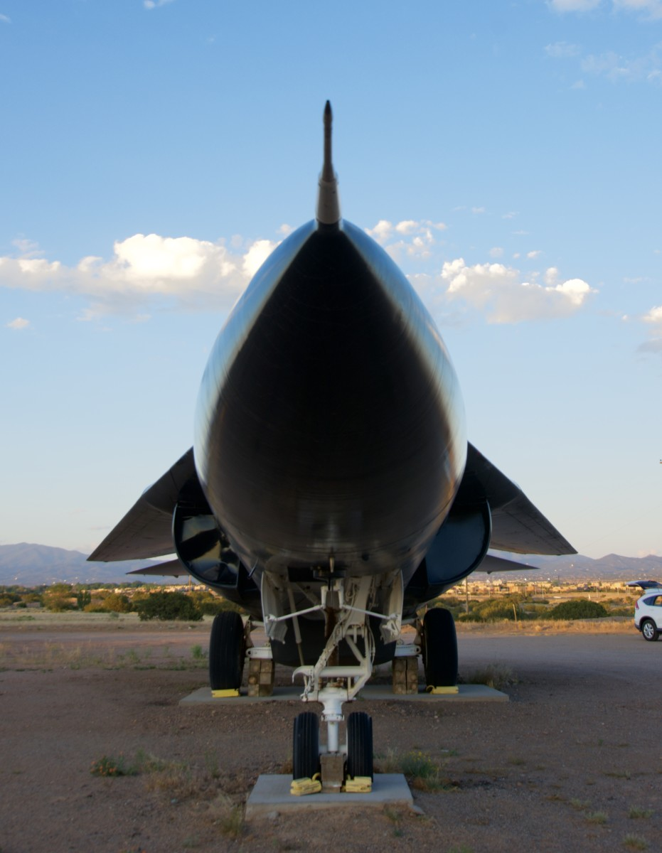 F-111 aircraft on display in Santa Fe