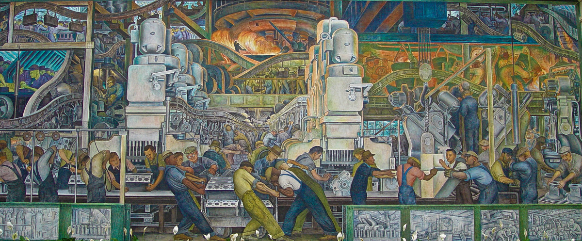 Detroit Industry Murals are by artist Diego Rivera