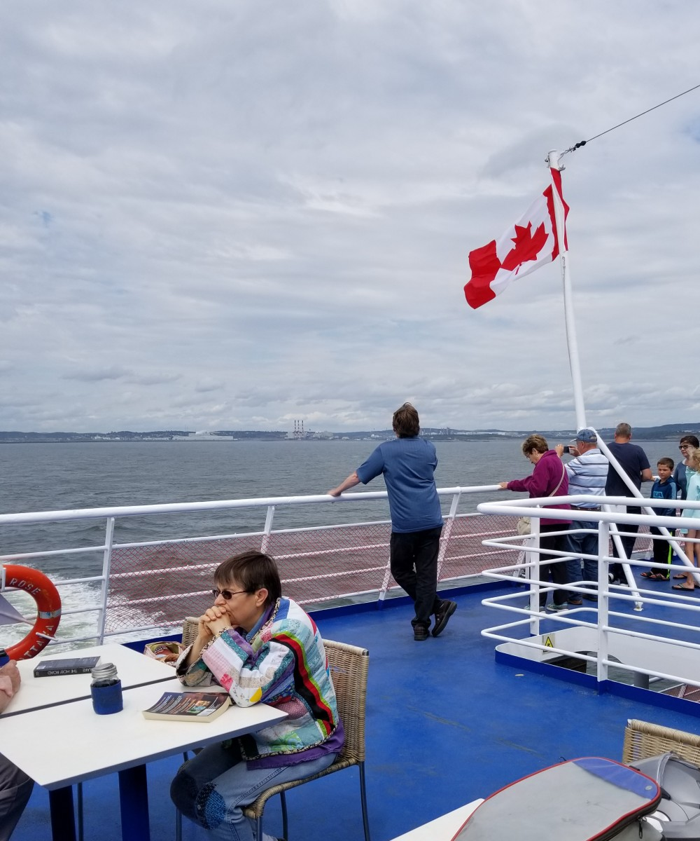 It was breezy, but not chilly on the deck of the ferry. The views were wonderful.