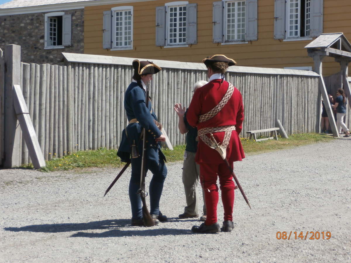 The costumed guides/docents added a lot to the scenes in the fort.