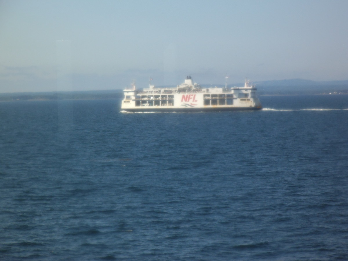 Another ferry passes us, heading the other direction.