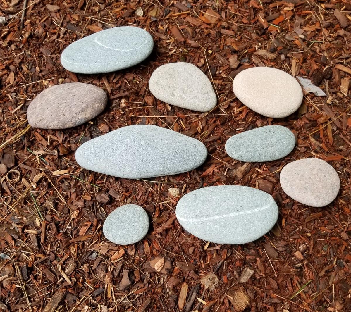 Nova Scotia beach pebbles.