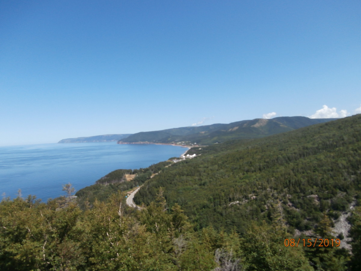 View along the Cabot Trail near Cheticamp.