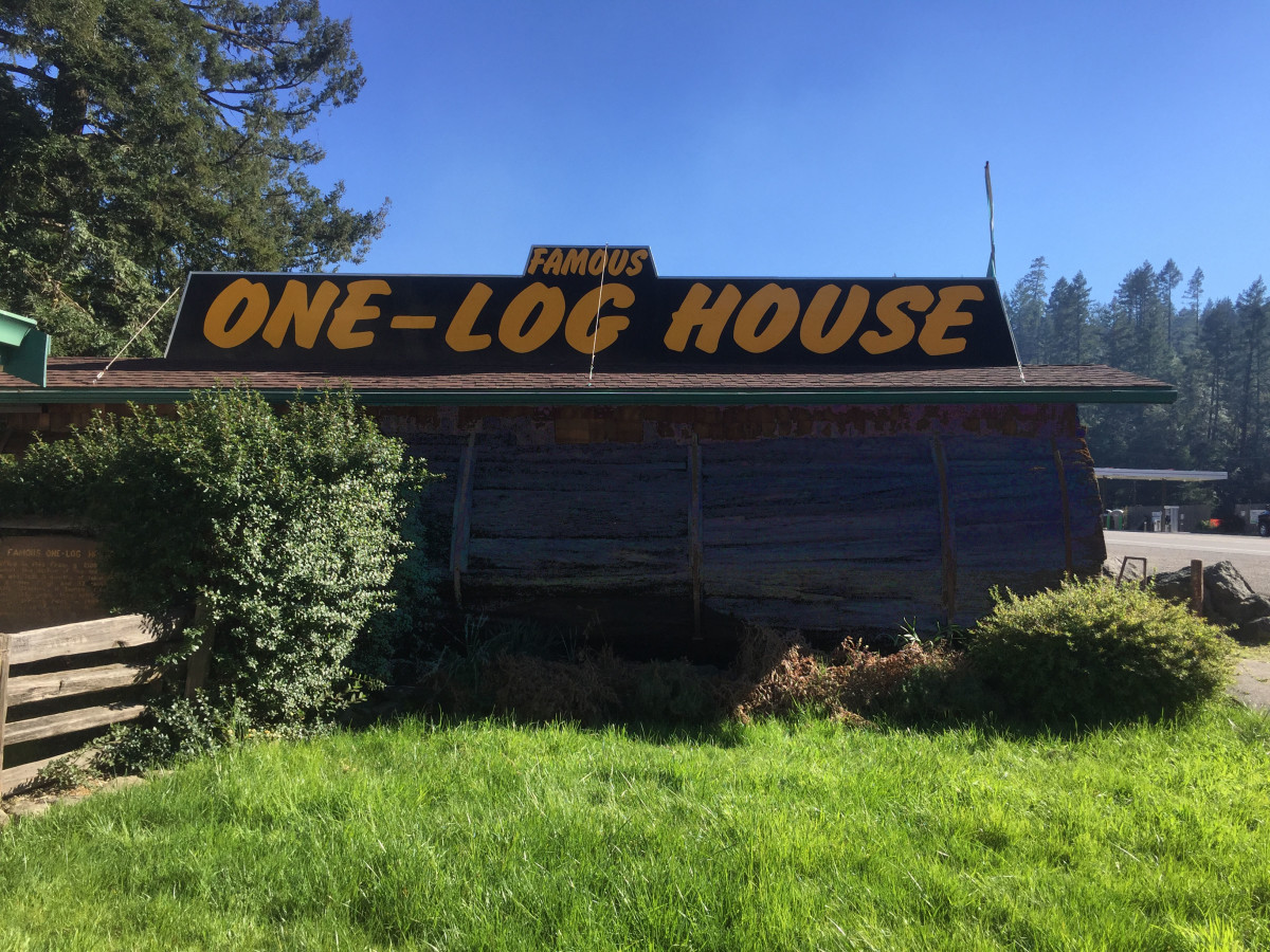 The Famous One-Log House in Garberville, CA