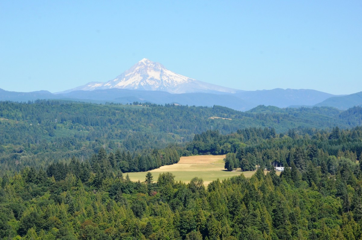 Mount Hood from Jonsrud View Point in Sandy, Oregon