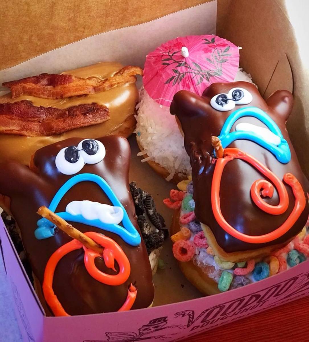 Yummy Voodoo Doughnuts from Voodoo Doughnuts in Portland.