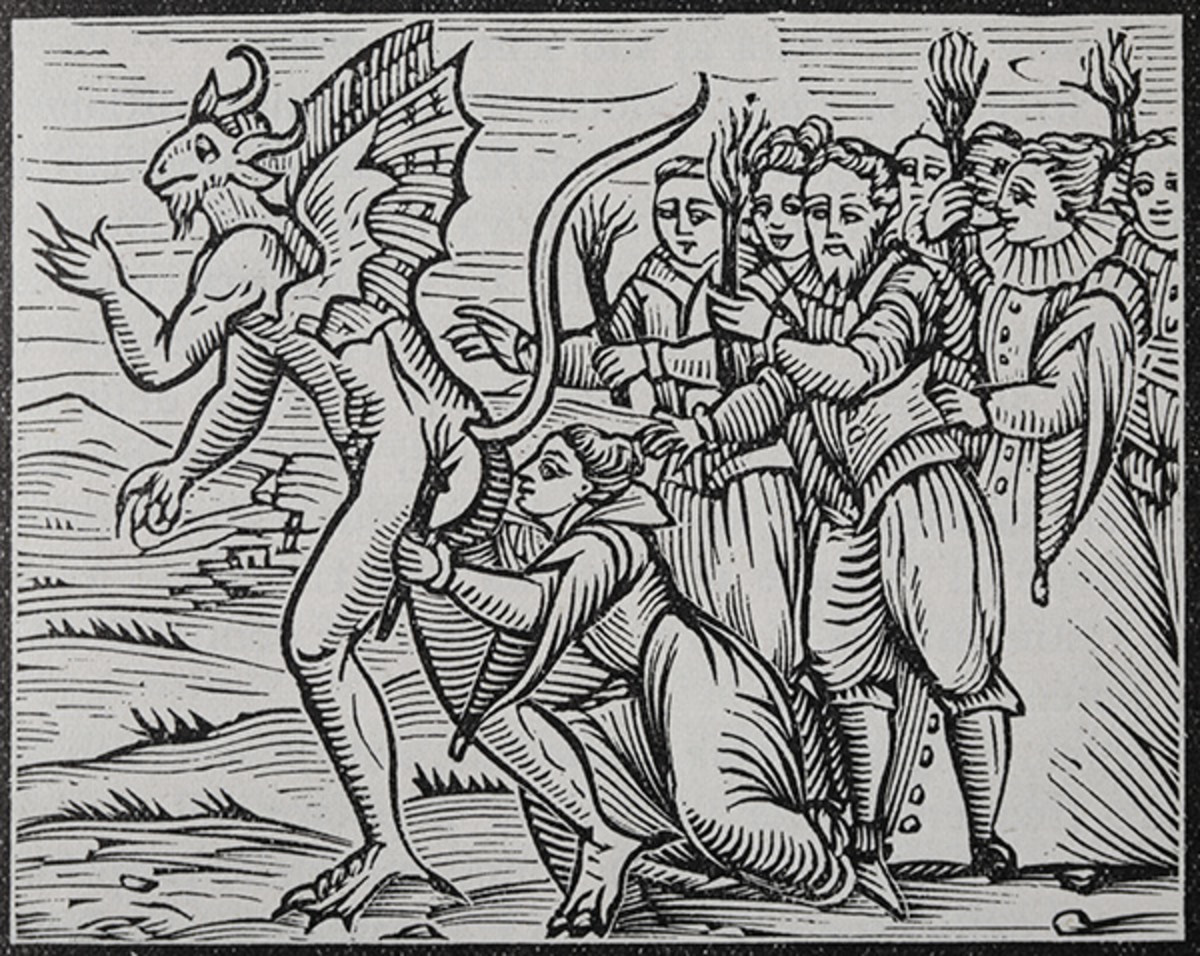 Osculum Infame (the shameful kiss) – image from the Malleus Maleficarum (1608)