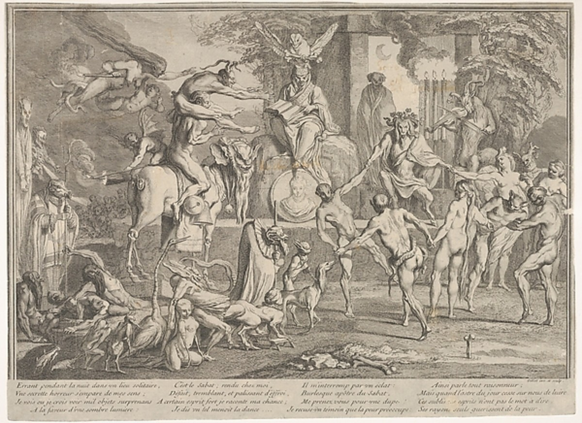 Witches' Sabbath (Claude Gillot 1673 - 1722)