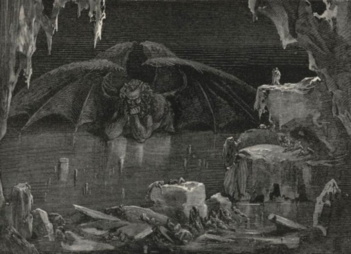 Satan - Dante's Divine Comedy (Gustave Dore 1832-1883)