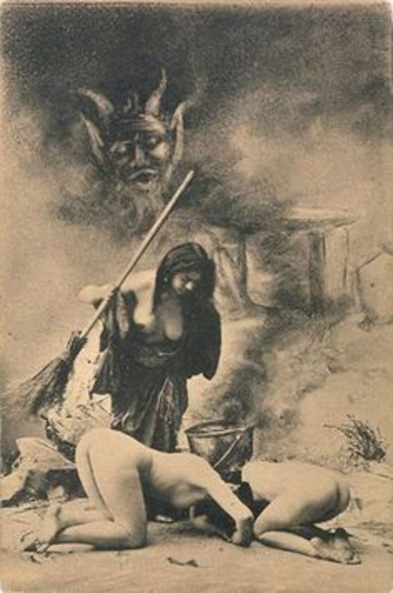 Witches Sabbath in Paris (postcards circa 1900–1910)