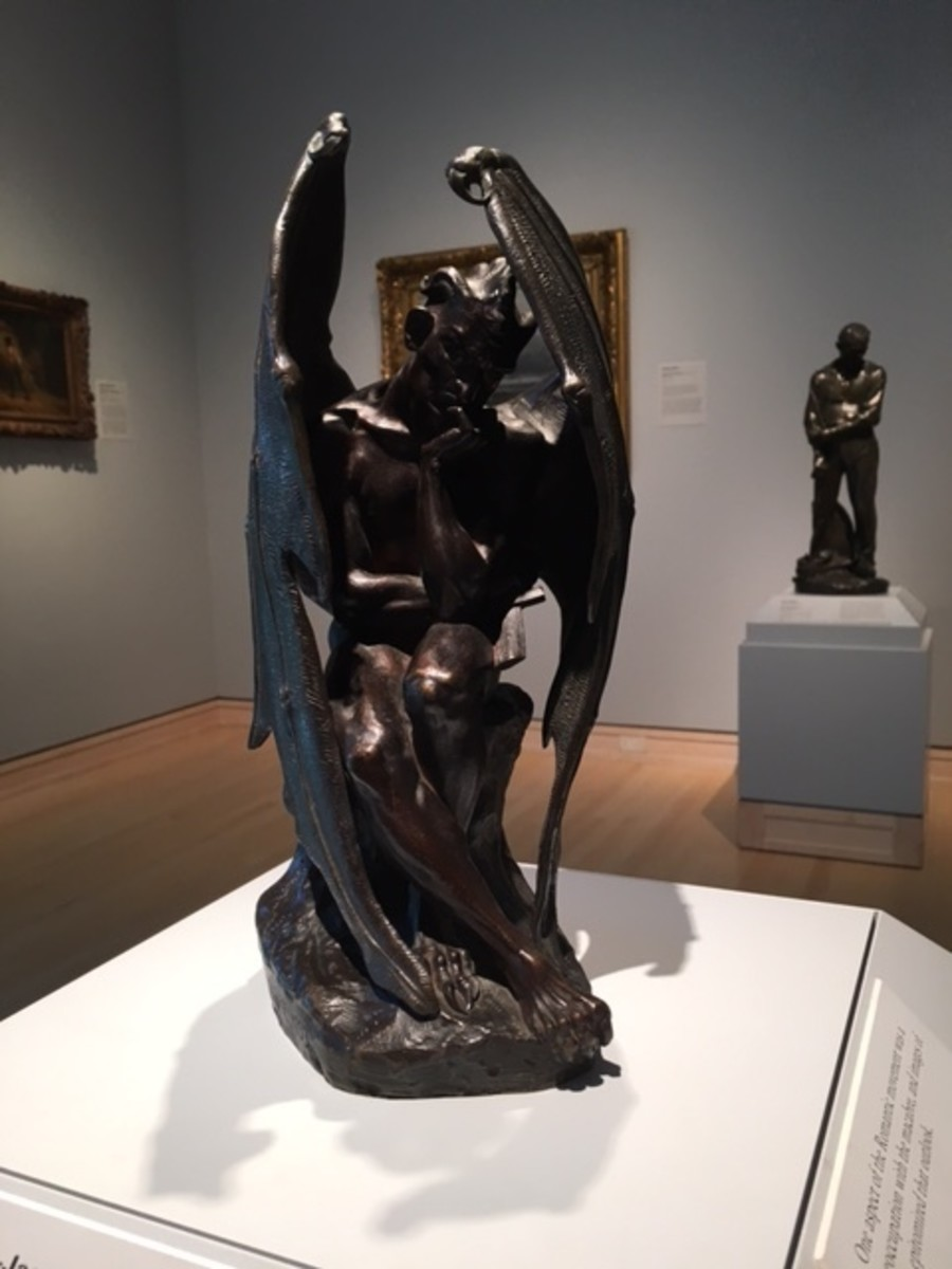 Satan (Jean-Jacque Feuchere 1807-1852) -- photo of sculpture taken by author at Indianapolis Museum of Art.