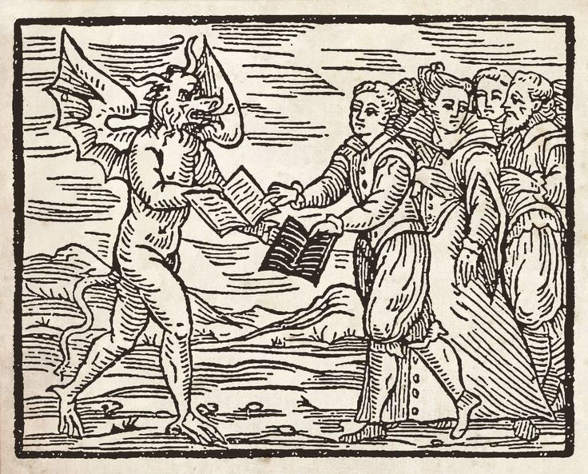 Engraving from the Compendium Maleficarum (Francesco Maria Guazzo 1610)