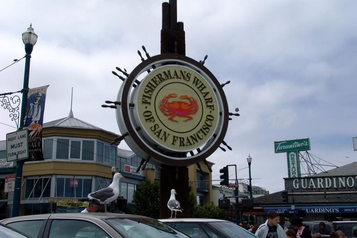 Famous Fisherman's Wharf in San Francisco, California