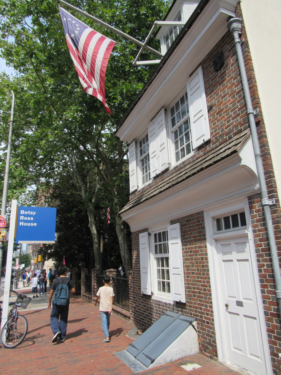 The Betsy Ross House along Arch Street.