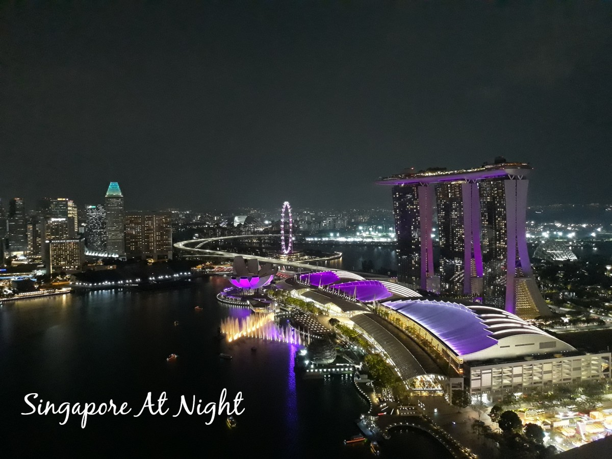 Spectacular light displays are happening every night at Marina Bay Sands.