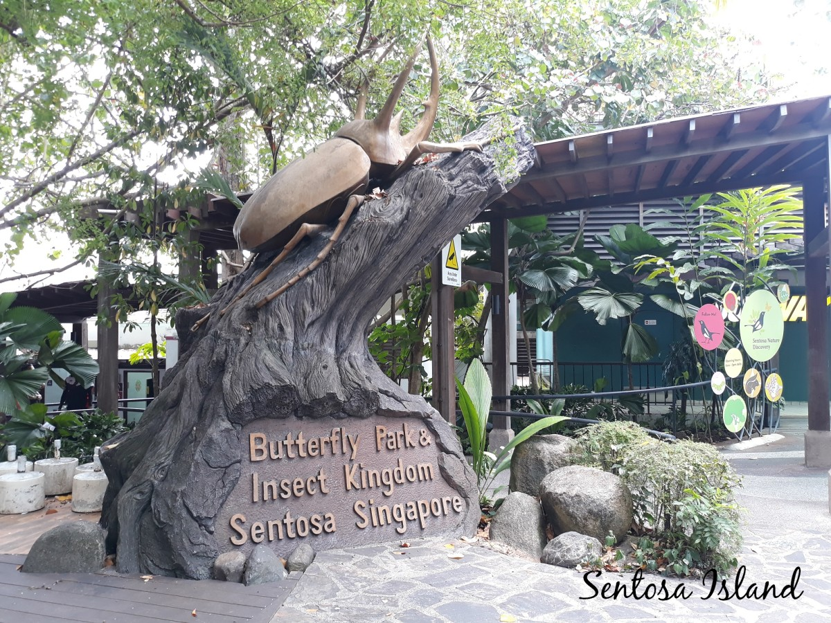 Some of the attractions on Sentosa Island.