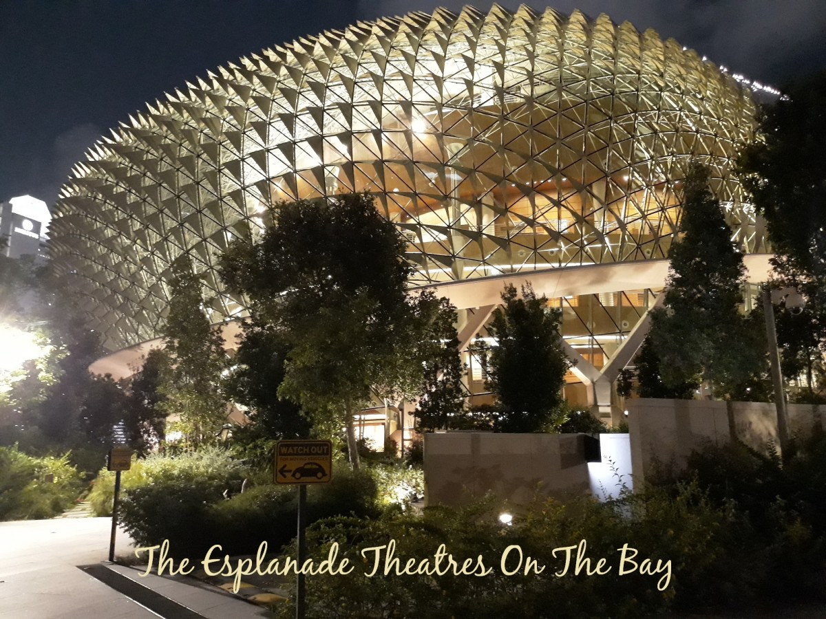 "The Esplanade, a.k.a. ""The Durian"" looks stunning at night."