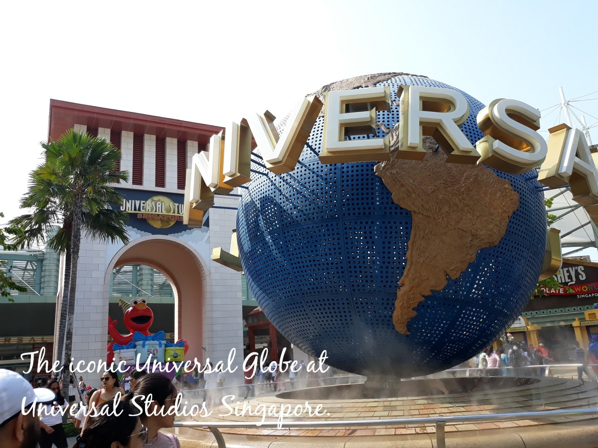 In front of Universal Studios Singapore at Sentosa.