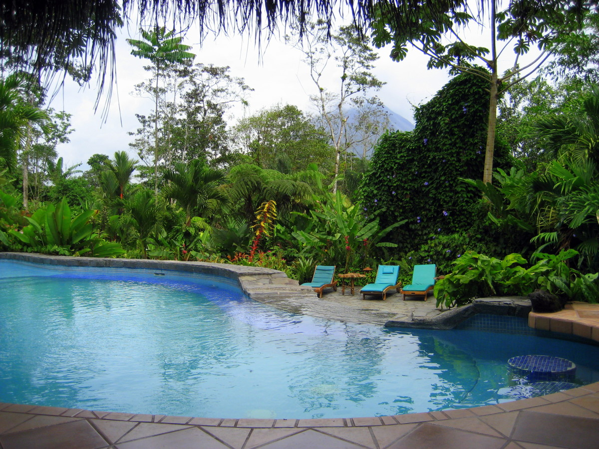 The pool at Lost Iguana Resort