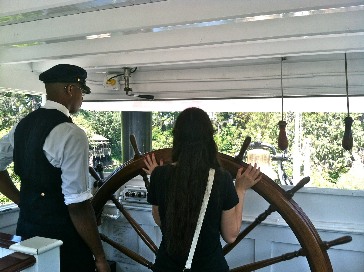 Here I am driving the Mark Twain!