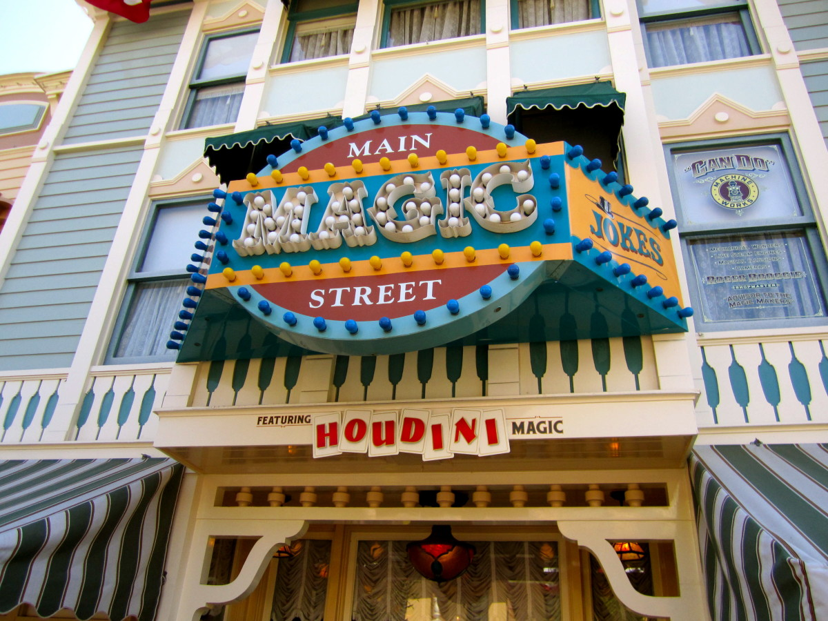 The shop where Steve Martin used to work at in Disney.