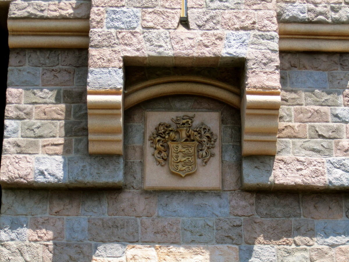Here is the family crest on the castle.