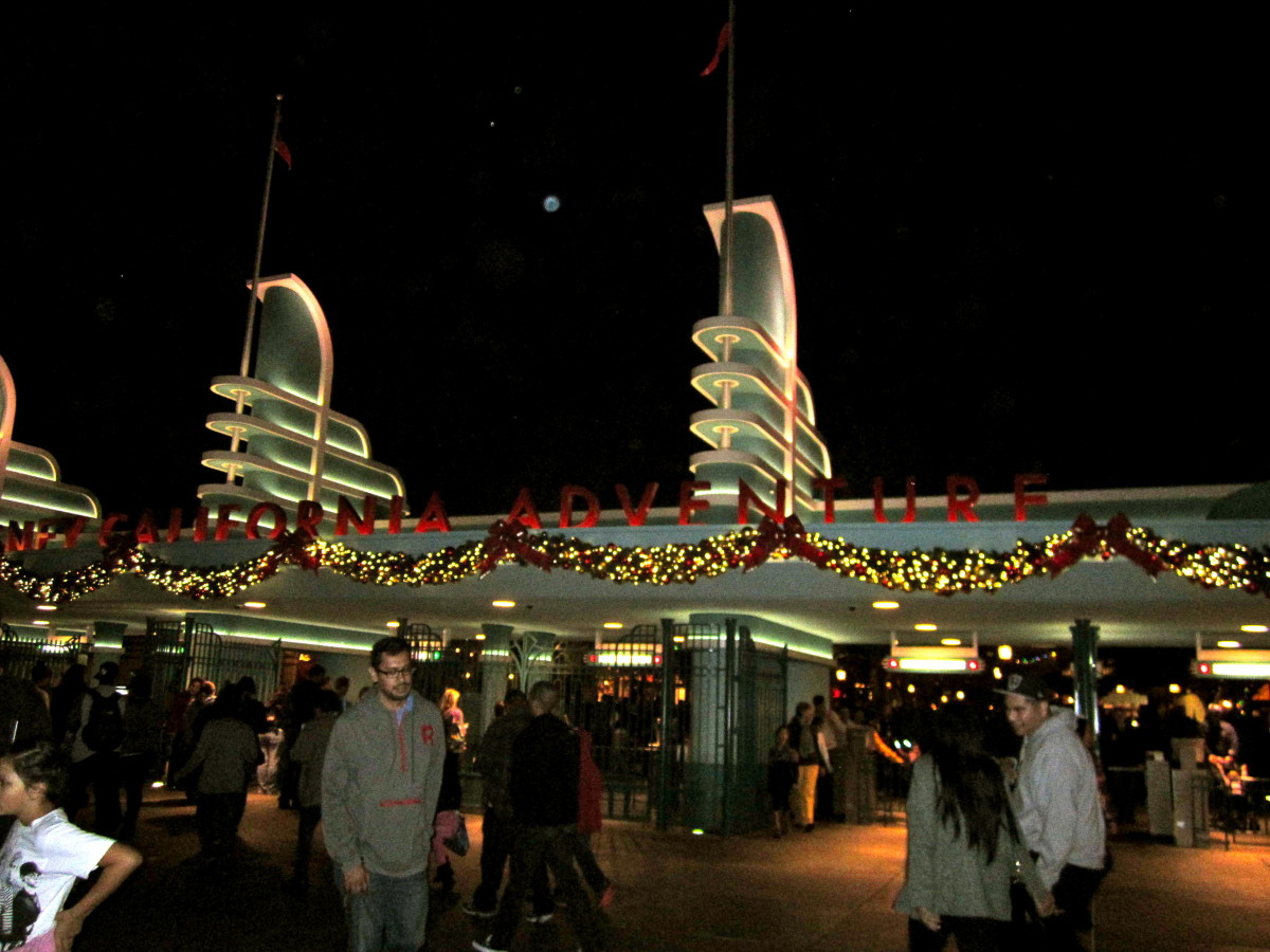The gates of California Adventure are decorated as well.